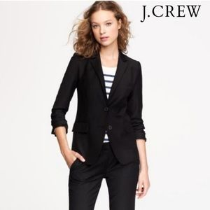Jcrew black super 120 wool career business blazer